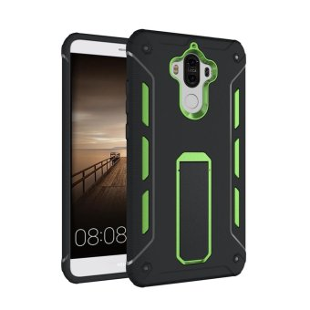 For Huawei Mate 9 TPU + PC Shockproof Phone Back Case Cover (Green) - intl