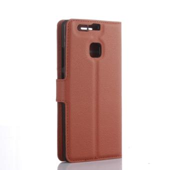 For Huawei P9 Leather Wallet Phone Cover with Stand function Case -intl - 3