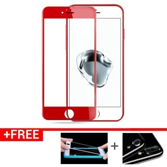 For iPhone7P Full Screen Tempered Glass Screen Protector for iPhone7 Plus (Red) Price Philippines