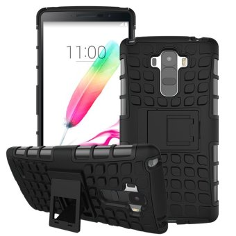 For LG G4 Stylus Case G Stylo Heavy Duty Armor Shockproof Hybrid Hard Soft Rugged Rubber Phone Case Cover - intl
