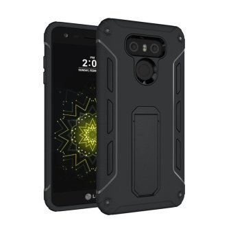 For LG G6 TPU + PC Shockproof Phone Back Case Cover (Black) - intl