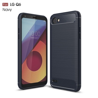 For LG Q6 Ultra Light Carbon Fiber Armor ShockProof Brushed Silicone Grip Case for LG Q6/LG Q6 Plus/LG G6 Mini - intl