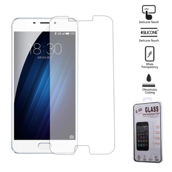 For Meizu M3E Tempered Glass Screen Protector 0.25mm 2.5D Arc Edge- intl