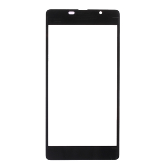 For Microsoft Lumia 540 Front Screen Outer Glass Lens(Black) - 3