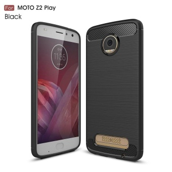 For Moto Z2 Play Case High-end Carbon Fiber Back Case ShockproofProtective Silicone Cover for Motorola Moto Z2 Play - intl Price Philippines
