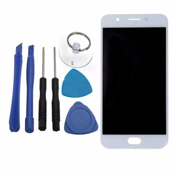 For OPPO F1s A59 A1601 LCD Display With Touch Screen Digitizer Sensor Assembly Original Replacement Parts, White - intl