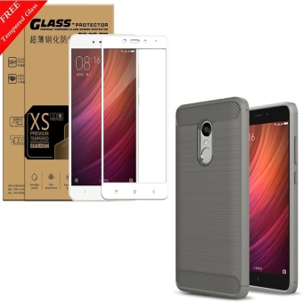For Redmi Note4X(3GB) and Note 4x(4GB+64GB Snapdragon Version)Carbon Fiber Shockproof Sweatproof Phone Case With 3D Full CoverageAnti blue-ray Tempered Glass/Anti-Scratch/Bubble free ScreenProtector Film - intl