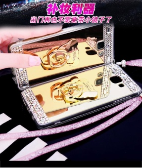 For Samsung Galaxy A7 2017 A720 Casing Fashion Phone Case Mirror Phone Cover With Ring Holder - intl - 2