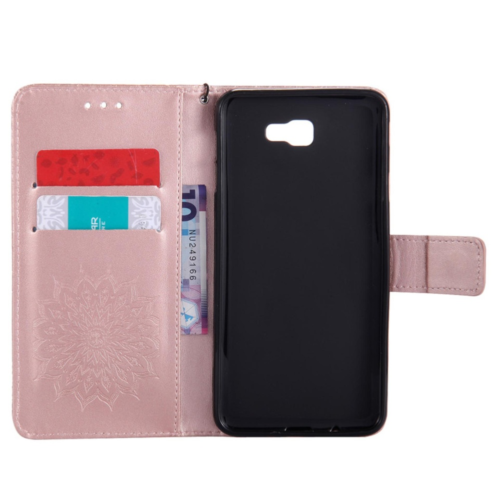 for Samsung Galaxy J7 Prime / SM-G610 Case Cover - Classic FashionStyle Wallet Flip