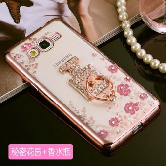 For Samsung Galaxy J7 Prime Soft Phonecase Lady Mobile Phone CaseCover Casing With Ring Holder - intl