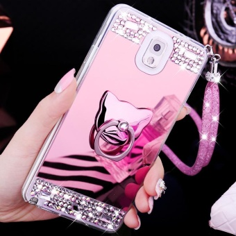 For Samsung Galaxy Note 3 Phone Case Mirror Casing Lady Phone Cover- intl