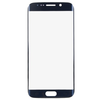 For Samsung GALAXY S6 Edge G9250 Front Glass Lens Touch Screen(Blue)- - intl