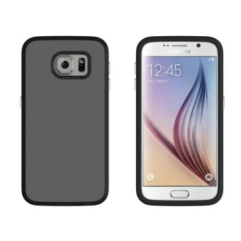 For Samsung Galaxy S6 G9200 Ultra Slim Anti-Slip Shockproof PhoneBack Case Cover (Black) - intl - 2