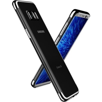 For Samsung Galaxy S8 Clear Soft Tpu Phone Case with Fing RingHolde with Anti Blue-Ray Eye Protect Full Cover Tempered Glass /Plating Crystal Transparent Shockproof Phone Cover Silicone PhoneShell for Samsung Galaxy S8 - intl - 4