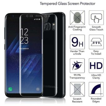 For Samsung Galaxy S8 Edge Full Cover 3D Screen Protector FilmCover Skin Guard - intl