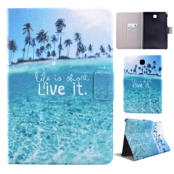 For Samsung Galaxy Tab A 8.0 inch SM-T350 SM-T355C PU Leather FlipStand Case Cover with Magnetic Closure - Live it