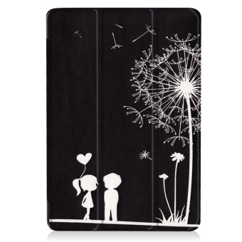 For Samsung Galaxy Tab S3 9.7 SM-T820 / T825 Ultra Slim Tri-Fold PULeather Tablet Case Cover (Dandelion Lover) - intl - 2