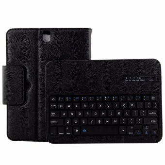 For Samsung Galaxy Tab S3 9.7 T820 T825 T829 MagneticallyDetachable ABS Bluetooth Keyboard PU Leather Case Cover, Black -intl