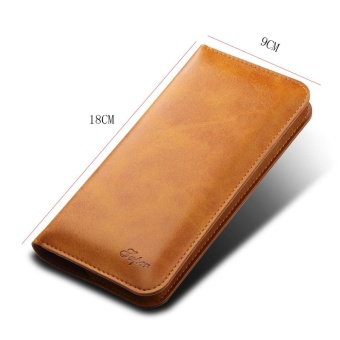 For SAMSUNG S7 EDGE Leather Card Slot Leather Flip Cover Phone Case - intl - 4