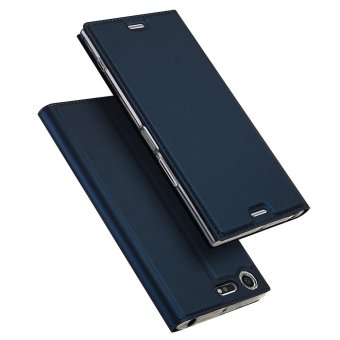For Sony Xperia XZ Premium Book Design Flip Leather Case Cover (Dark Blue) - intl