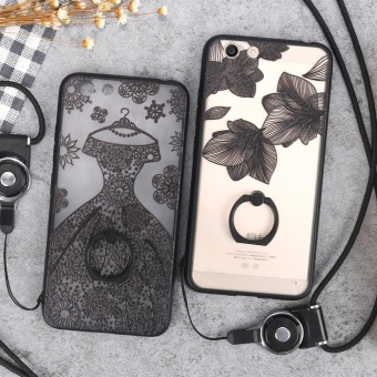 For VIVO Y53 Case Cover New Hot Sell Fashion Ultra-thin 3D StereoRelief Colorful Painting Soft Back Covers/Anti falling PhoneCover/Shockproof Phone case With Metal Ring and Phone Rope (BlackMusic) - intl - 4