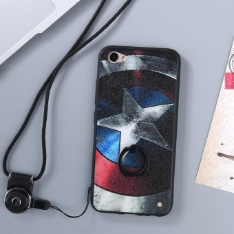 For VIVO Y66 / V5 Lite Case Cover New Hot Sell Fashion Ultra-thin3D Stereo Relief Colorful Painting Soft Back Covers/Anti fallingPhone Cover/Shockproof Phone case With Metal Ring and Phone Rope(DUIZHANG) - intl - 2
