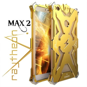 For Xiaomi Mi Max2 Brand Simon Heavy Duty Armor Metal Aluminum Phone Cover Cases For Xiaomi Mi Max2 - intl