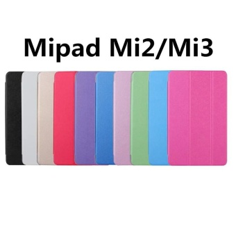 For Xiaomi MiPad 2 / Mi Pad 3 7.9 inch three Fold PU Leather UltraSlim Case Flip Cover Tablet Case - intl