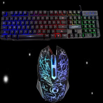 FOREV V1 3-color LED Light USB Gaming Keyboard and Gaming Mouse