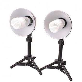 Fosoto Product Photography 300W Table Top Photo Studio Lighting Kit- 2 Light Kit
