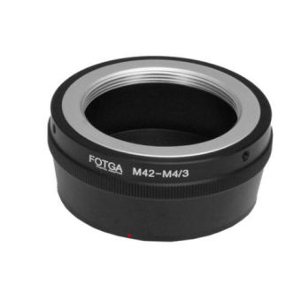 Fotga Adapter for M42 Lens to Panasonic Olympus Micro 4/3 M4/3Camera (Black) (Intl)