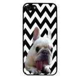 French Bulldog Chevron Pattern Phone Case for iPhone 5C (Black) - thumbnail 1