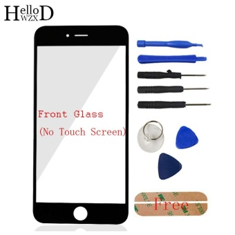 Front Outer Glass Screen Lens (No Touch) For Apple iPhone 6 6G 6S Plus 5.5inch + Free Tools + Adhesive (Black) - intl