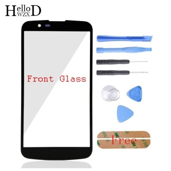 Front Outer Glass Screen Lens (No Touch) For LG K10 K410F M2 K430T K420N K430DS K430DSF + Free Tools + Adhesive (Black) - intl