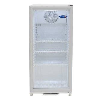 Fujidenzo 4.5 Cu,ft Double Glass Door Upright Refrigerator SU-45A(White)