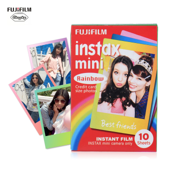 Fujifilm Instax Mini 10 Sheets Colorful Rainbow Film Photo PaperSnapshot Album Instant Print for Fujifilm Instax Mini 7s/8/25/90 -intl