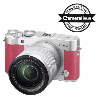 Fujifilm X-A3 Kit with Fujinon XC 16-50mm f/3.5-5.6 OIS Len's (Pink) with Free 8GB SD Memory Card