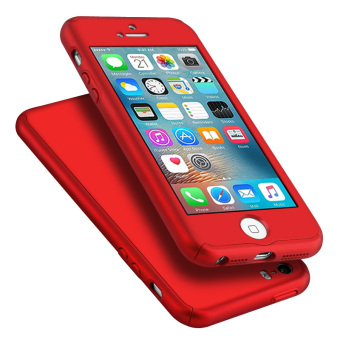 Full Body Protective Matte Case for Apple iPhone SE / 5S / 5 (Red)