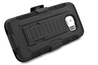 Full Body Shockproof Heavy Duty Rugged Case With Locking Belt Swivel Clip & Kickstand For Samsung Galaxy S6 (Will not fit Galaxy S6 Active, Galaxy S6 Edge, Galaxy S6 Edge Plus) - intl - 2