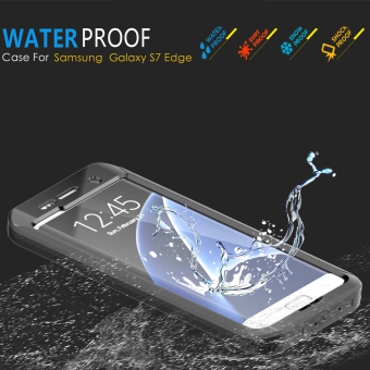 Full Body Touch ID Waterproof Shockproof Case for Samsung Galaxy S7Edge - Sky Blue - 3