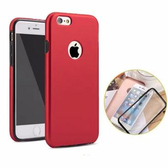 Full Cover 360 Shockproof Case for Apple iPhone 5G/5S/SE (Red)