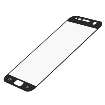 Full Cover Tempered Glass Screen Protector Guard for Samsung GalaxyS7 (Black) - 3