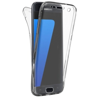 Full Coverage 360 degree Front and Back Protective Case ShockproofTPU Gel Transparent Clear Cover for Samsung Galaxy S7 Edge - intl - 2