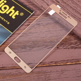 Full Coverage Tempered Glass Screen Protector Guard Film for Samsung Galaxy C9 Pro - Gold - intl