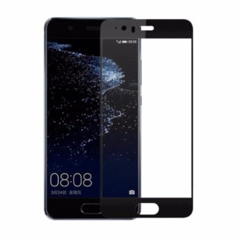 Full Covered Curved Tempered Glass for Huawei P10( Black)
