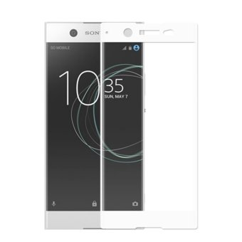 Full Covered Curved Tempered Glass Screen Protector for Sony XperiaXA1 Ultra (White) - intl