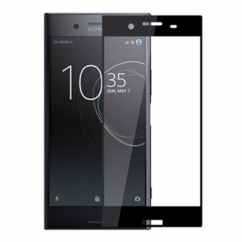 Full Covered Curved Tempered Glass Screen Protector for Sony XperiaXZ Premium (Black) - intl
