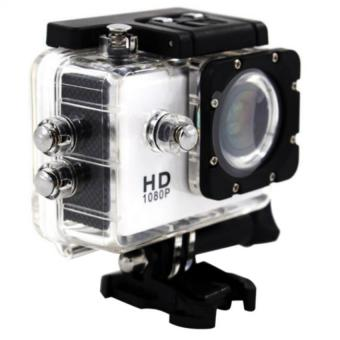Full HD 1080p Sports 5MP Action Camera and Camcorder Waterproof(White)