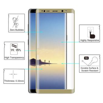 Full Tempered Glass Protector for Samsung Galaxy Note 8 (Gold)