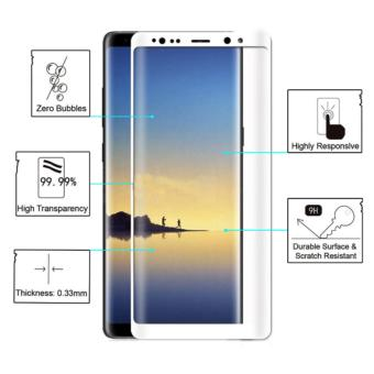 Full Tempered Glass Protector for Samsung Galaxy Note 8 (White)
